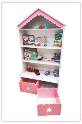 MONTESEV Kitaplık Raf Çocuk Bebek Odası Oyun Evi Oyuncak Kutusu Dolabı Sepeti Ahşap Montessori 1