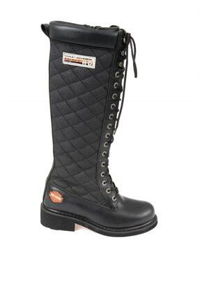 Harley Davidson Rem Black Deri Kadın Çizme 1