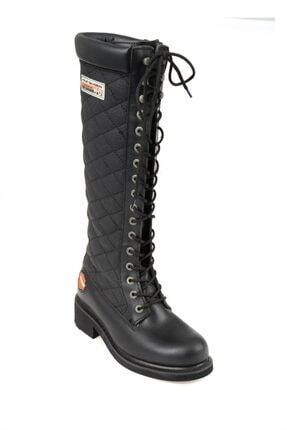 Harley Davidson Rem Black Deri Kadın Çizme 2