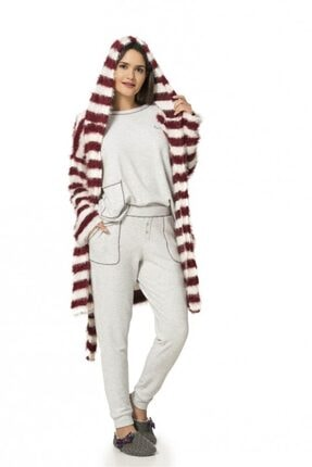 1051 Uzun Kol Bayan Pijama Takımı resmi