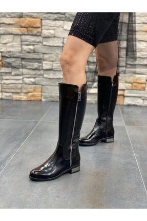 DİVA Siyah Rugan Ripos Günlük Çizme 0