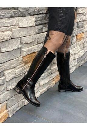 DİVA Siyah Rugan Ripos Günlük Çizme 2