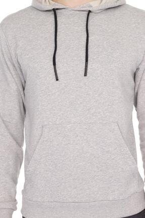 Aslans Erkek Kapüşonlu Kanguru Cepli Uzun Kollu Sweatshirt 0