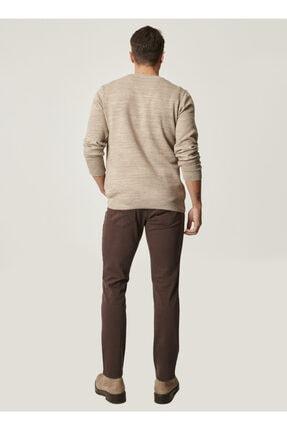 Altınyıldız Classics Erkek Kahverengi 360 Derece Her Yöne Esneyen Rahat Slim Fit Pantolon 2