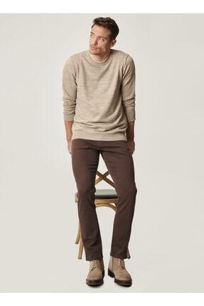 Altınyıldız Classics Erkek Kahverengi 360 Derece Her Yöne Esneyen Rahat Slim Fit Pantolon 3