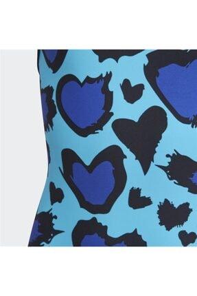 adidas Kız Çocuk Mavi Mayo 4