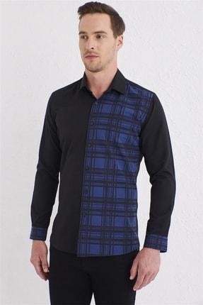 Efor G 1444 Slim Fit Siyah Spor Gömlek 1