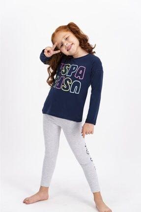 US Polo Assn Lisanslı Kız Çocuk Tayt Takım 0