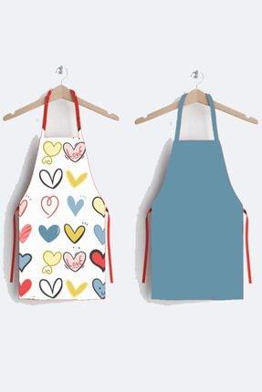 AYSHOME Kalpli Özel Tasarım 2 Li Mutfak Önlüğü 0