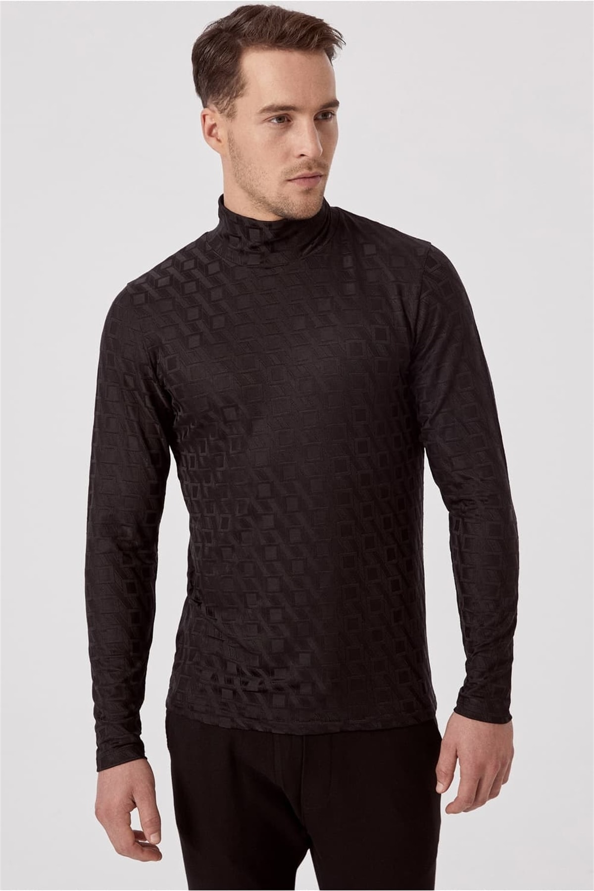 Ts 774 Slim Fit Siyah Spor T-shirt