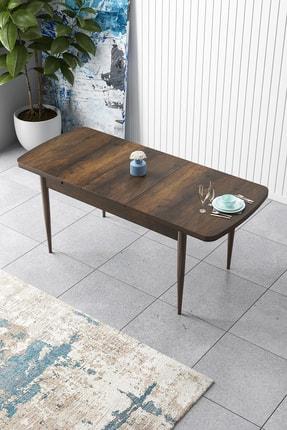 Canisa Concept Zen Serisi Mdf Açılabilir Mutfak Masası, Yemek Masası ,barok Ceviz Ahşap Desen 1