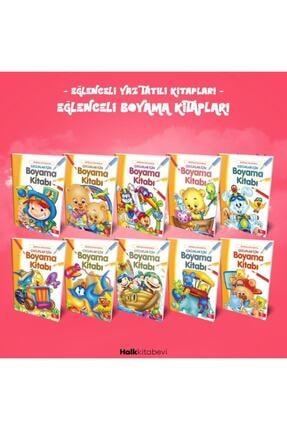 Halk Kitabevi Eğlenceli Yaz Tatili Kitapları - Çocuklar Için Boyama Kitabı Seti 0