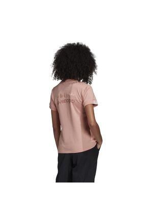 adidas Kadın Pembe Kısa Kol T-shirt 1