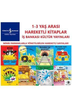 İş Bankası Kültür Yayınları Iş Bankası Hareketli Kitaplar 8 Kitap Set 1-3 Yaş Minik Parmaklarla Yönetilebilen Hareketli Sayfalar 0