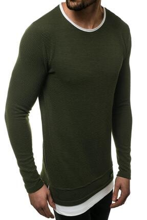 Oksit Mach Etek Yaka Garnili Ottoman Erkek Sweatshirt 1
