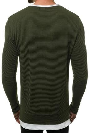 Oksit Mach Etek Yaka Garnili Ottoman Erkek Sweatshirt 2