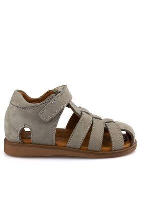 Gri Nubuk Ortopedik Erkek Cocuk Sandalet 104102E