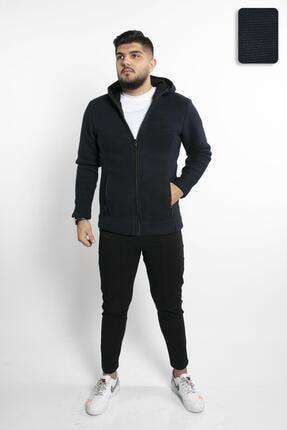 Fabregas Lacivert - Zırh Örgülü Fermuarlı Sweatshirt 1
