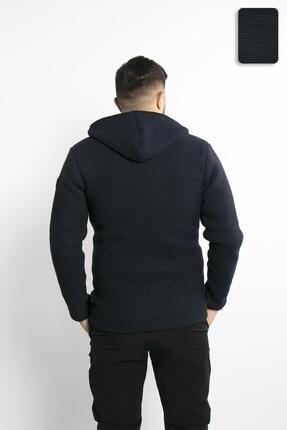 Fabregas Lacivert - Zırh Örgülü Fermuarlı Sweatshirt 4