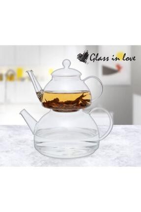 Magic Kitchen Cam Çaydanlık Takımı Isıya Dayanıklı 0