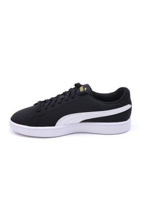 Puma Smash V2 Buck 365160 23 Kadın Erkek Sneaker Ayakkabı Siyah Beyaz 36-40,5 1