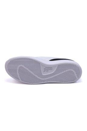 Puma Smash V2 Buck 365160 23 Kadın Erkek Sneaker Ayakkabı Siyah Beyaz 36-40,5 3