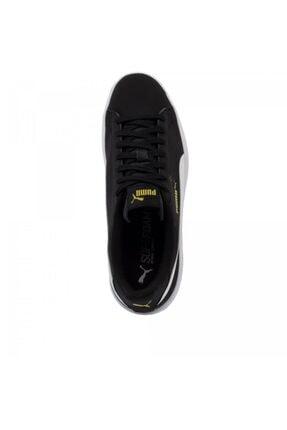 Puma Smash V2 Buck 365160 23 Kadın Erkek Sneaker Ayakkabı Siyah Beyaz 36-40,5 4