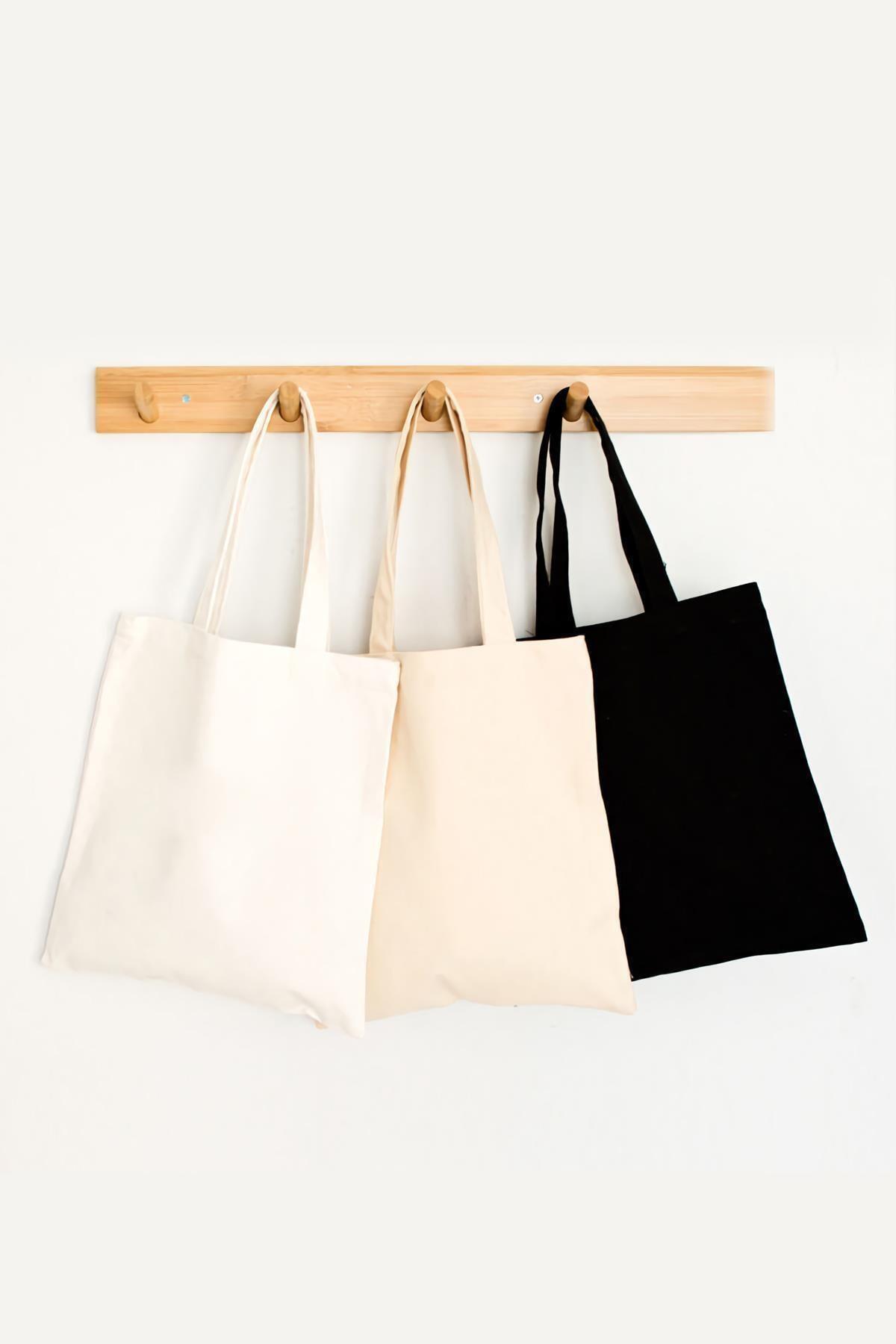 Üç Renk Bez Çanta