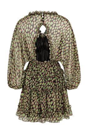 Nocturne Fırfır Şeritli Desenli Mini Elbise 4