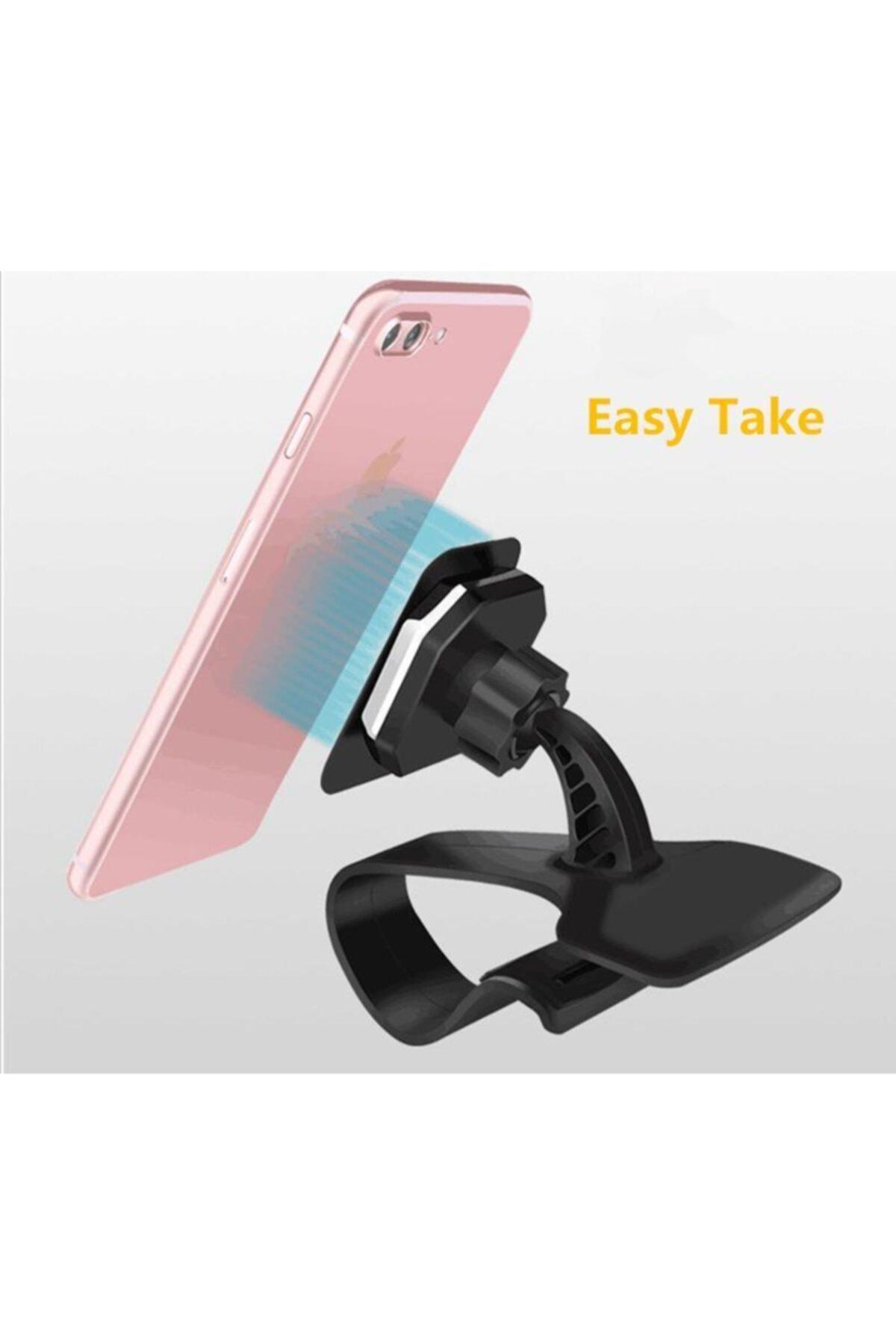 Techmaster Manyetik Mıknatıslı Araç Göğsü Torpido Telefon Tutucu Tutacağı