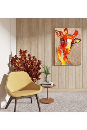 Dekoliya Yağlı Boya Zürafa Tablosu 50x70 Cm 1