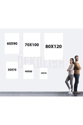 Dekoliya Yağlı Boya Zürafa Tablosu 50x70 Cm 4