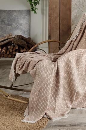Fushia Natural Keten Koltuk Örtüsü | Kara Tezgah Dokuma Koltuk Şalı 2