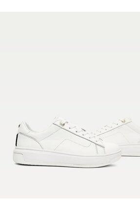 Tommy Hilfiger Kadın Th Cupsole Deri Sneaker 3