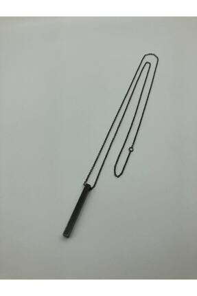 TAKIKRALI Mat Siyah Bar/çubuk Kesim Unisex Zincir. 2