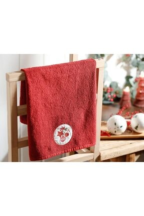 English Home Christmas Ball Nakışlı Paketli Hediyelik Havlu 40x60 Cm Kırmızı 0