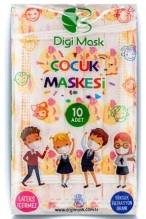 Digi Mask 7 Tepe Store Yüksek Koruma Desenli Çocuk Maskesi - 50 Adet 3