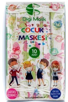 Digi Mask 7 Tepe Store Yüksek Koruma Desenli Çocuk Maskesi - 50 Adet 4
