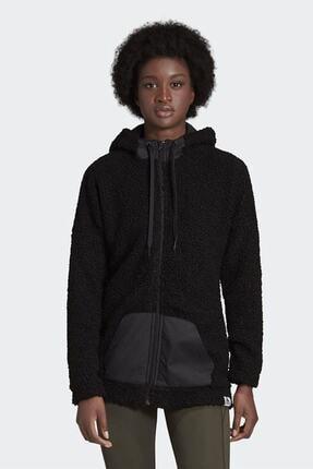 adidas Kadın Siyah Günlük Kapüşonlu Eşofman Üstü W Bb Hd Tt Gd3825 0