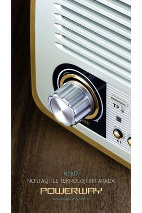 Powerway Nsj07 Nostalji Radyo Bluetooth Fm Radyo Usb Girişi Nsj07 1