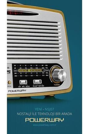 Powerway Nsj07 Nostalji Radyo Bluetooth Fm Radyo Usb Girişi Nsj07 2
