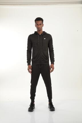 New Balance Erkek Siyah Kapüşonlu Sweatshirt Mpj007-bk 1