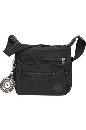 Bevitton Xx-71 4120 Siyah Paraşüt Krinkıl Hafif Kumaş 8 Bölmeli Kadın Çapraz Postacı Çantası Bvt41-20 Siyah 0