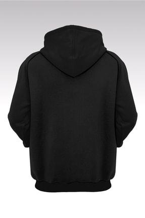 Tonny Mood Unisex Cactus Jack, Travis Scott 002 Siyah Kapüşonlu Sweatshirt 1