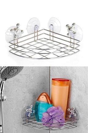 HAYATINIZI KOLAYLAŞTIRIN Vantuzlu Köşe Banyo Rafı Ev.03113.00-1 0