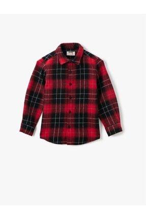 Koton Erkek Çocuk Kırmızı Klasik Yaka Ekoseli Uzun Kollu Gömlek 0