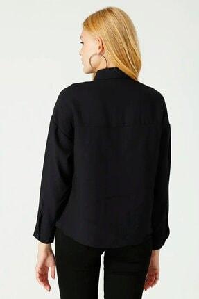 Loft Kadın Taşlı Püsküllü Siyah Gömlek Lf2025064 3