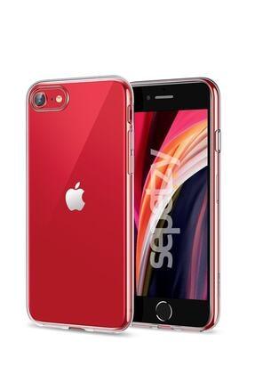sepetzy Apple Iphone Se 2020 Şeffaf Kılıf Clear Silikon Kapak 0