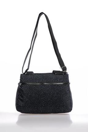 Smart Bags Smbky1125-0091 Puanlı Siyah Kadın Omuz Çantası 2