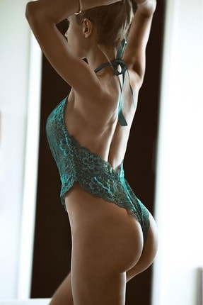 Merry See Yeşil Seksi Body Iç Giyim 1